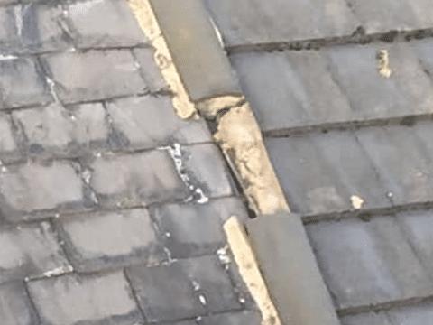 roof repair Oldham ridge tiles missing